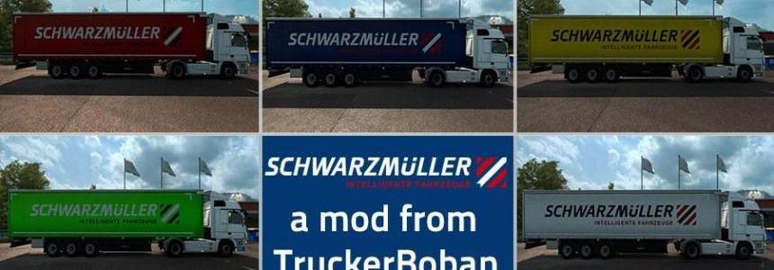 Schwarzmuller Curtain Sider Trailer Skin Pack v1.0