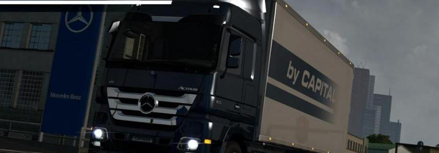 Tandem chassis addon for Mercedes Actros MP3 Reworks