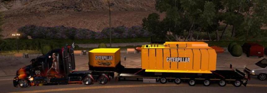 Trailer with Caterpillar heavy transformer for ATS 1.4.x - 1.4.2.2s