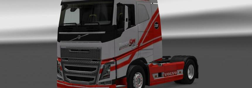 Trucksim skin for Volvo FH16 1.25