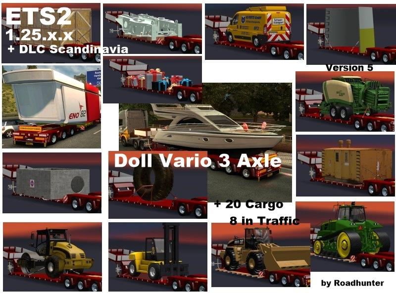 Doll Vario 3Achs with 20 Cargo