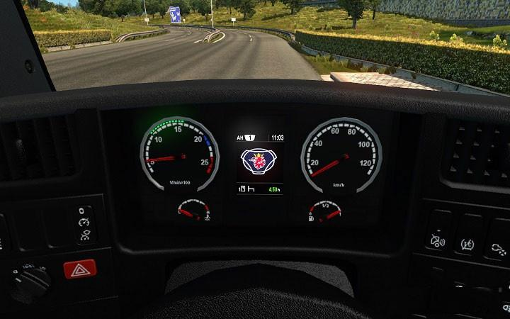 Scania Dashboard Computer v 3.9.5 for 1.25