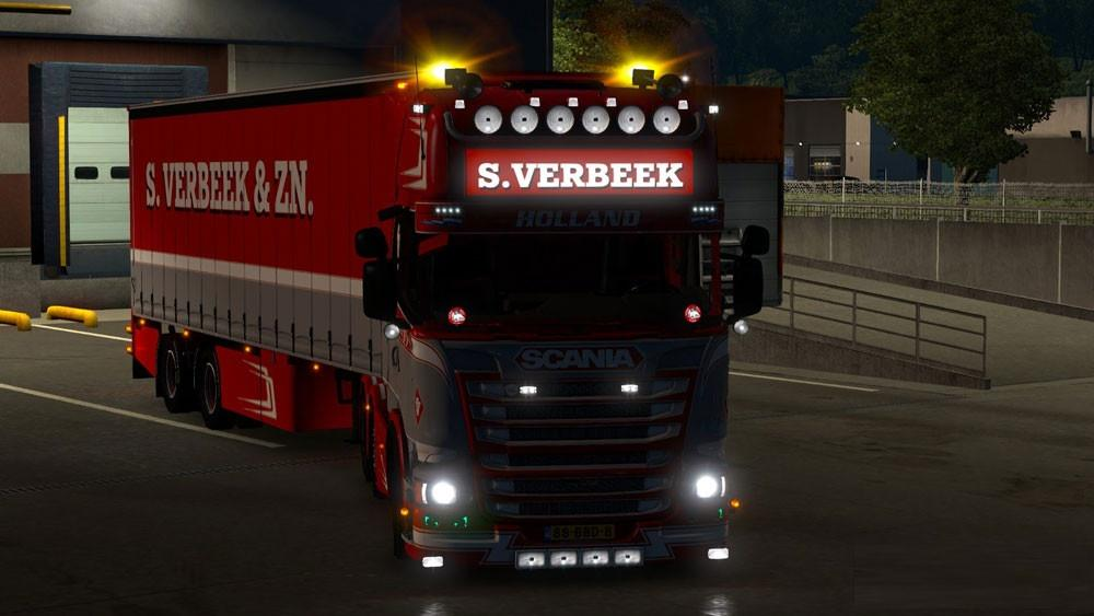 Scania R440 Streamline S.Verbeek & Verbeek Trailer V1.25