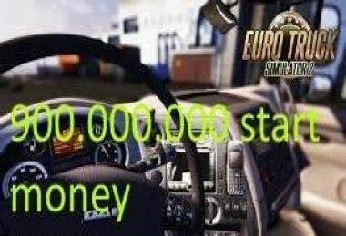 900.000.000 start money