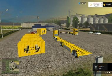 4 axle container turntable v0.1