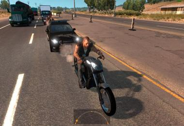 Motorcycle Harley Davidson police in traffic ATS 1.4.x