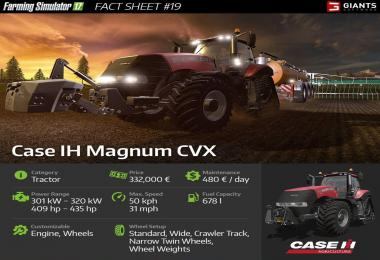 FARMING SIMULATOR 17 FACT SHEET #19