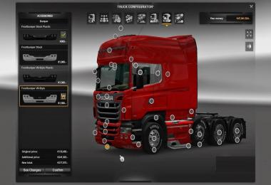 Scania R & Streamline Modifications v2.0 for ETS2 version 1.25