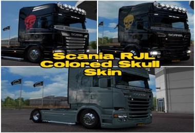 Scania RJL Colored Skull&Smoke Skin 1.25.x
