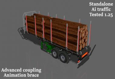 Small log trailer 1.25