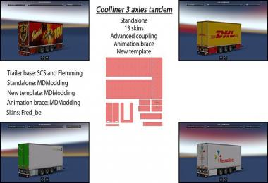 Trailer tandem coolliner 3 axles v1