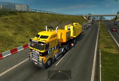 Trailer with Caterpillar heavy transformer 1.25.x