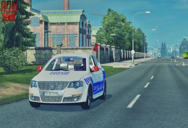 VW Passat Turkey Traffic Police Skin v1.0