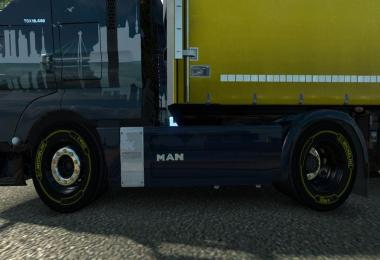 Yellow Michelin Tires for 50k Wheels Pack
