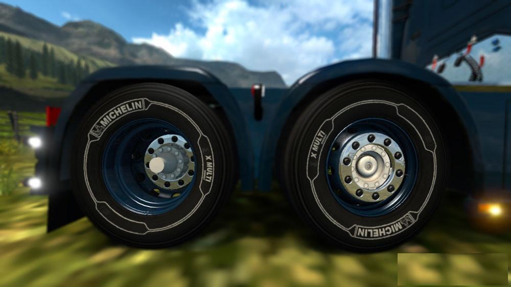 White Michelin Tires for 50k Wheels Pack