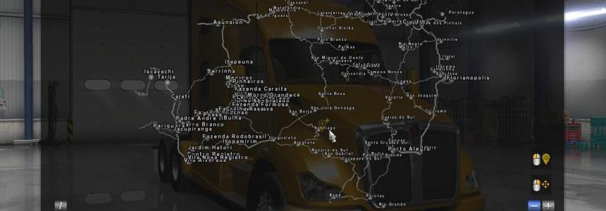 Addon for Mega map for ATS V1.0