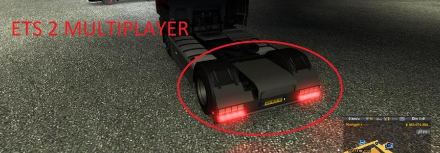 DAF XF Rear Bumper (Multiplayer) Holland Style v1