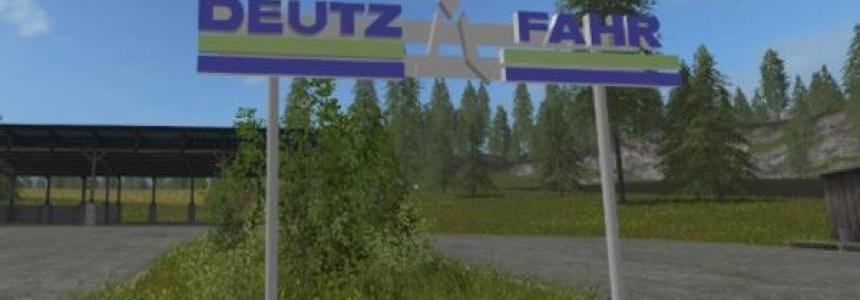 Deutz Fahr 3D plate placeable v1.0