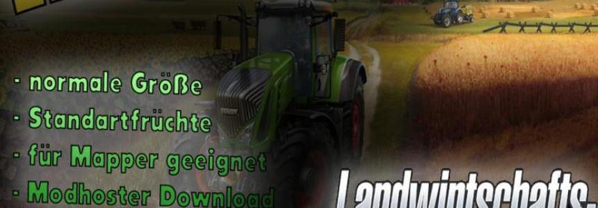Empty map for Farming Simulator 17 v1.0