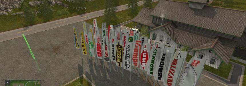 FS17 Placeable Flags v1.1