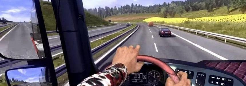 HANDS ON STEERING WHEEL (FIRST PERSON)