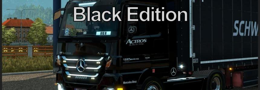 Mercedes-Benz Actros MP3 Black Edition Skin v1.0