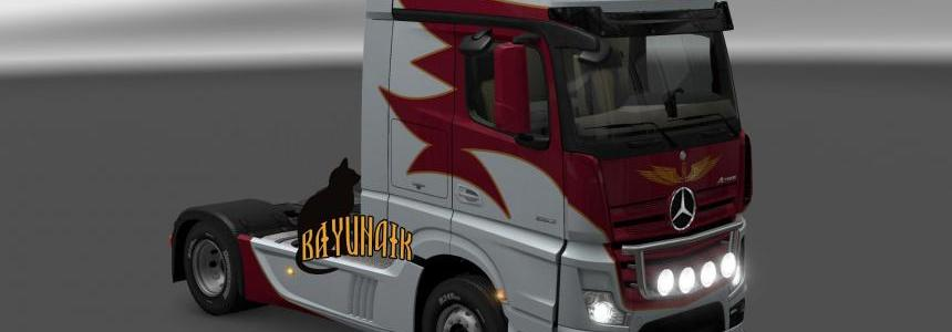 Mercedes Benz New Actros Vollmar skin 1.25