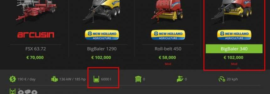 New Holland Baler Pack (Fill level) v1