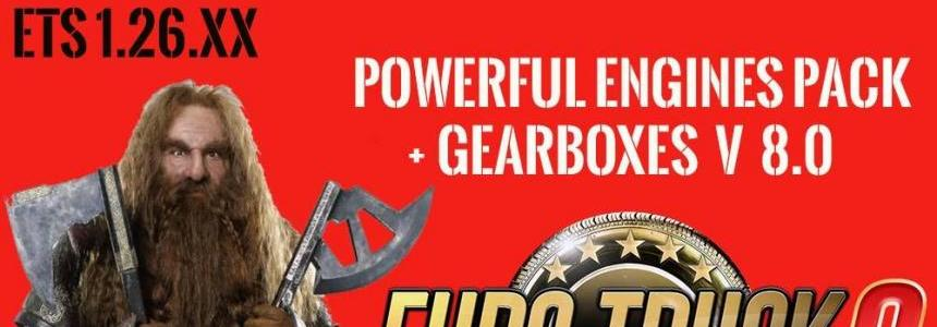 Pack Powerful engines + gearboxes v8.0 for 1.26.x
