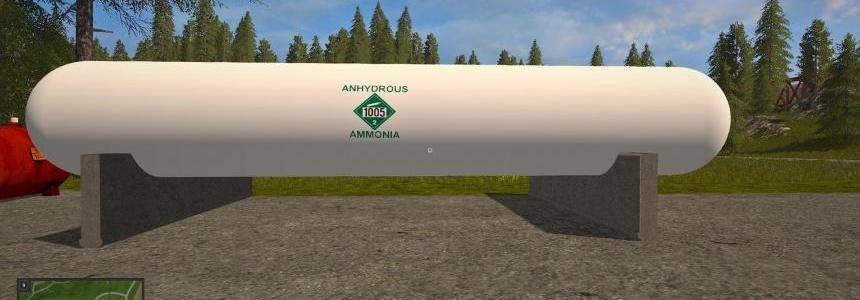 Placeable anhydrous liquid fertilizer tank v1.0