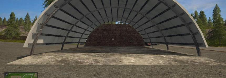 Placeable hayshed converted from fs15 v1.0
