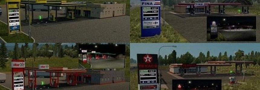 Realistic Gas Stations + Real Fuel Prices