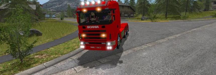 Scania 144L Agrar 3 achser v1.0