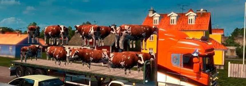 TRAILER COWS PACK for MULTIPLAYER