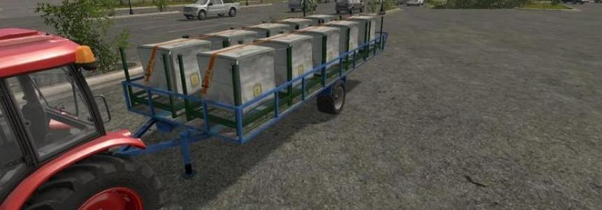 Transport trailer bales, pallets and wood V0.5 (beta)