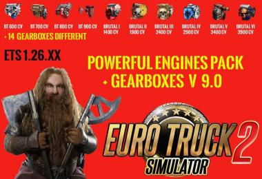Pack Powerful engines + gearboxes v9.0 for 1.26.x