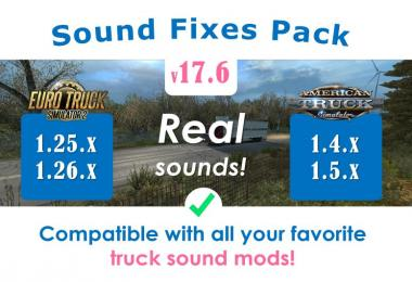 Sound Fixes Pack v17.6 for ATS