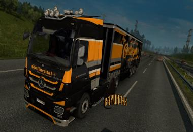 Mersedes Benz Actros MP3 Continental skin pack 1.26