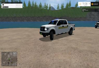Ford F150 Sheriff blue and white v1.0