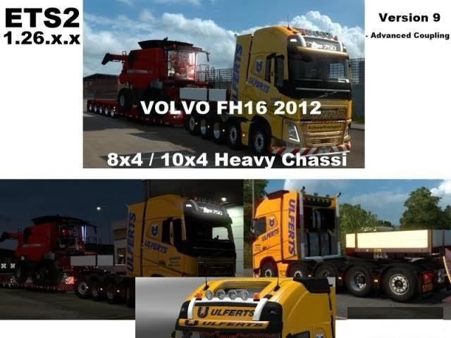 Volvo FH 2012 8×4 and 10×4 V9 ETS21.26.x.x