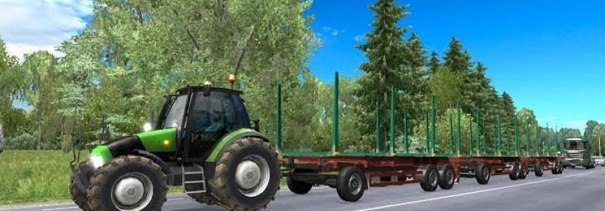 Tractor with trailers in traffic v3.0