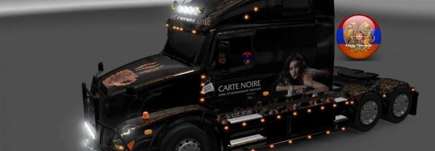 Skin carte noire for Volvo vnl670 & trailer doubledeck