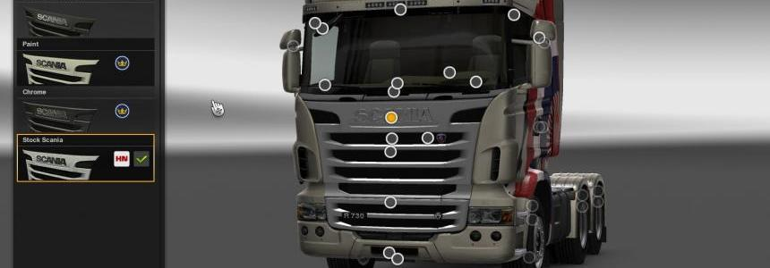 Accessories for Scania R 2009 SCS
