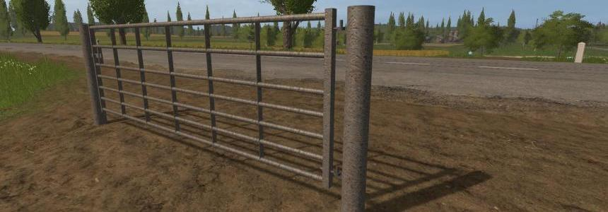 Animated Seven bar steel with light rust gates v1.0