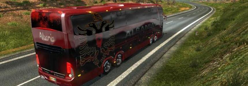 Bus Macropolo G7 1600LD Albania Skin + 5 Football teams skin pack