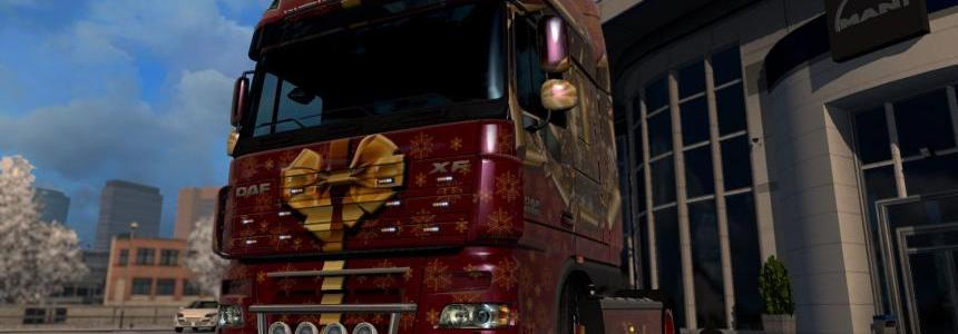 DAF XF 105 50k Christmas delivery skin 1.26