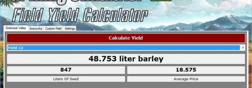 Field Yield Calculator v1.0