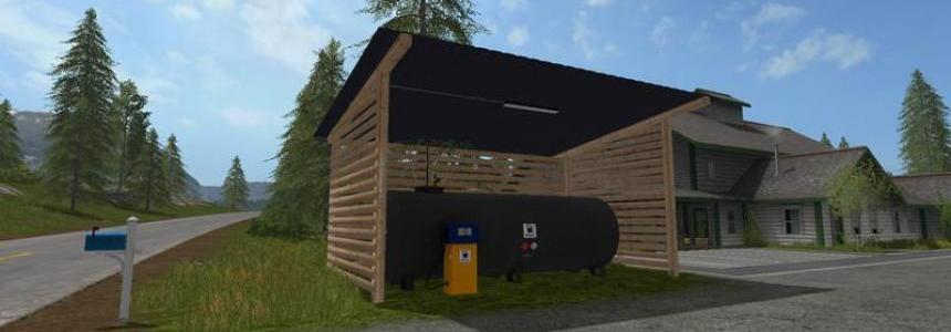 Gas station with shelter and night light v1.0
