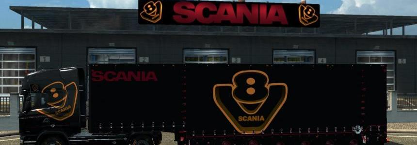 Long Jumbo Trailer Krone Scania V8