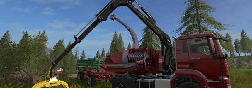 MAN TGS 18.480 with Jenz HEM583 Woodcrusher v1.1